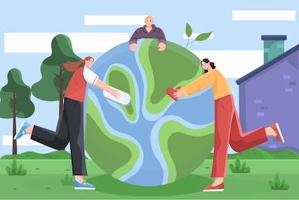 World Kindness Day Flat Illustration