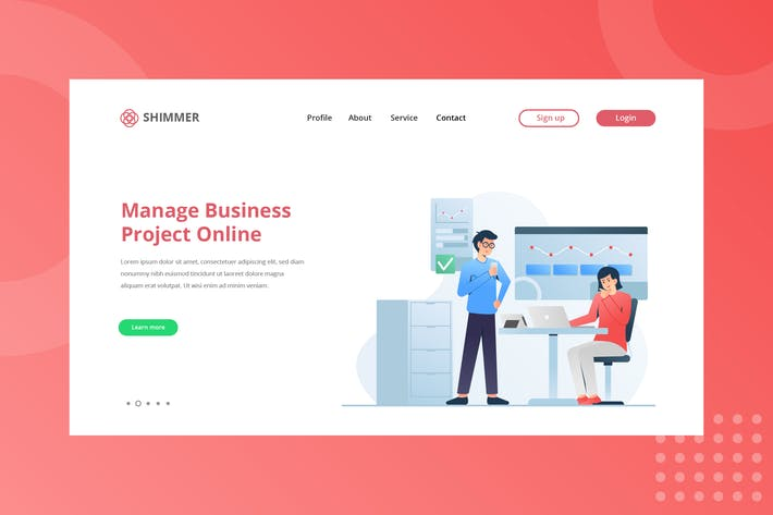 Manage Business Landing Page