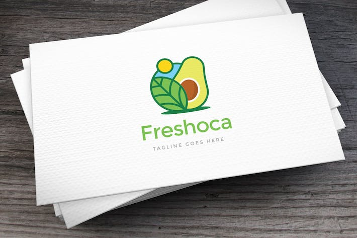 Thumbnail for Freshoca Avocado Logo Template