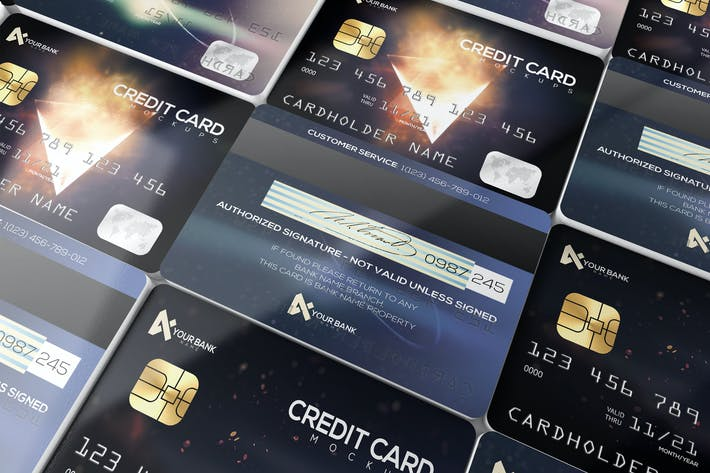 Thumbnail for Membership/ Credit Cards Mockup