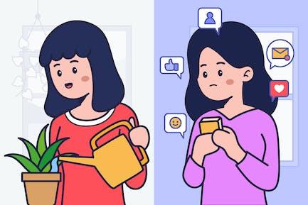 Jomo Vs Fomo Illustration