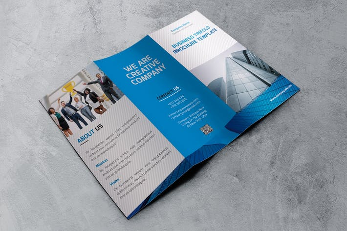 Cover Image For Company Trifold Brochure Template