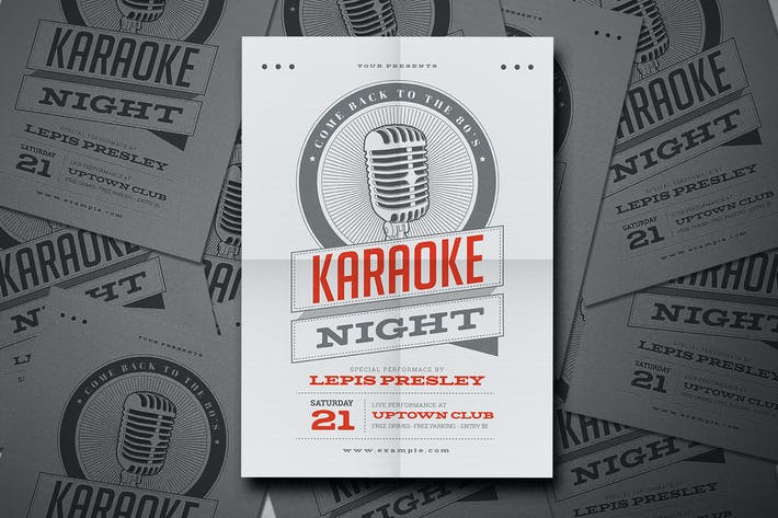 Thumbnail for Vintage Karaoke Night Event Flyer