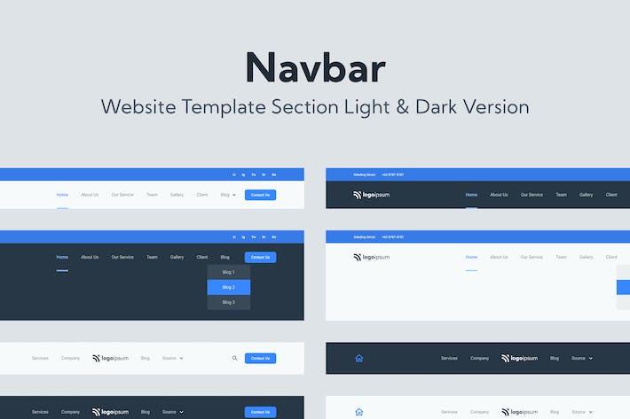 Шаблон веб-панели навигации