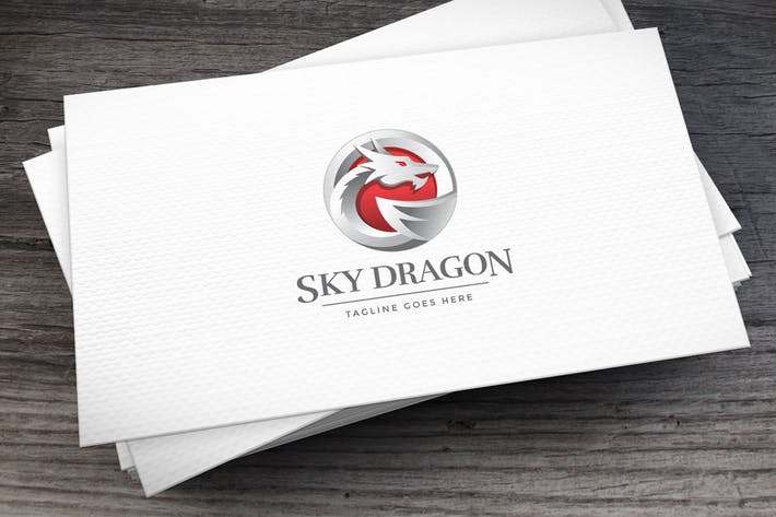 Thumbnail for Sky Dragon Logo Template