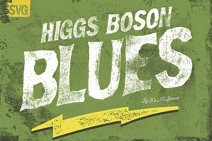Cover Image For Higgs Boson Blues handmade OpenType SVG color font