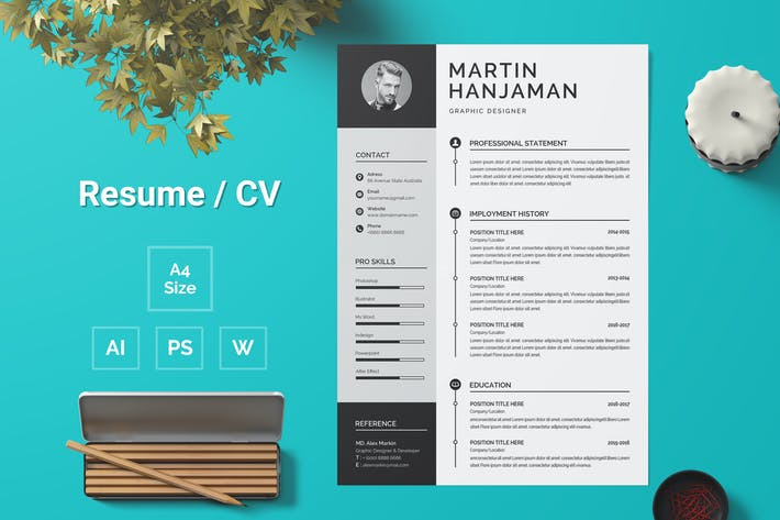 Thumbnail for Resume Template 109