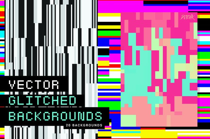 Cover Image For Vector Glitched Backgrounds