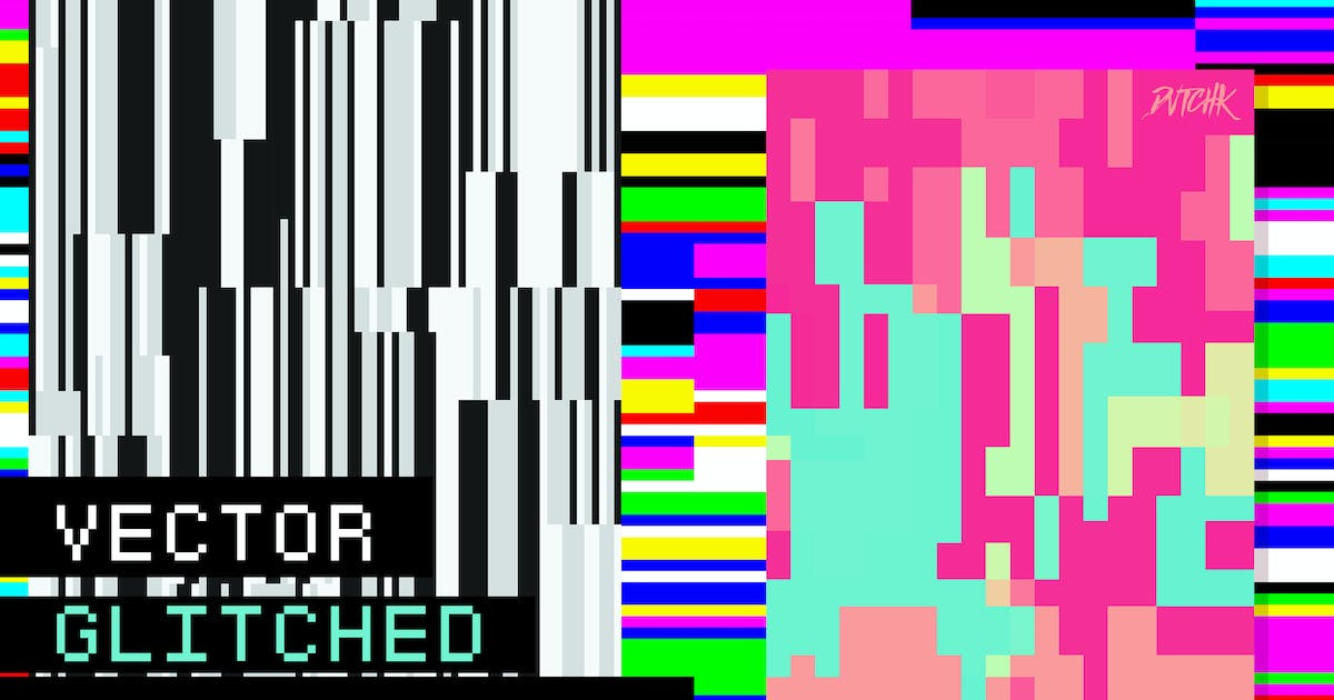 Download Vector Glitched Backgrounds by devotchkah