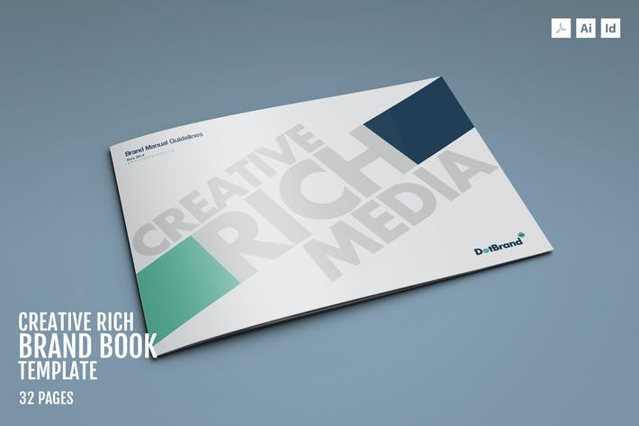 Thumbnail for Creative Rich-Brand Book Template