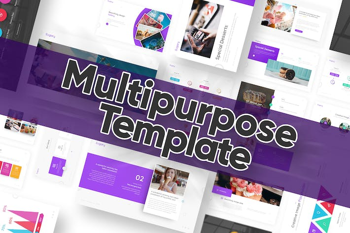 Thumbnail for Sugary Multipurpose Powerpoint Template