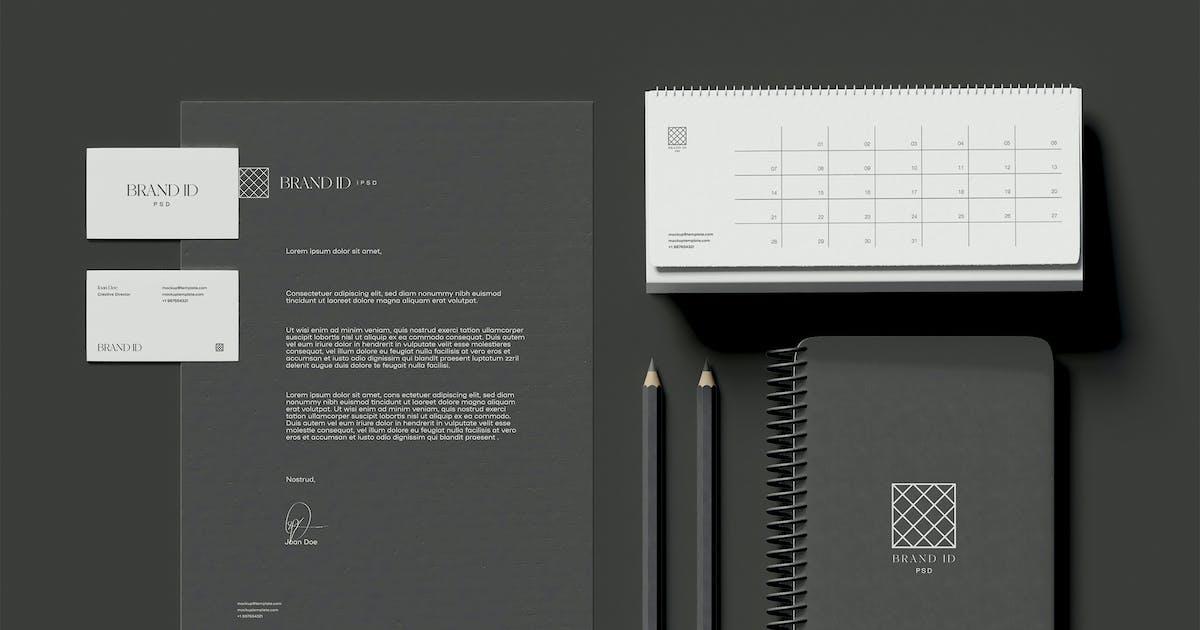 Download Stationery Set Mockup by megostudio
