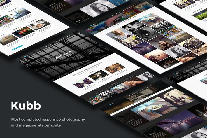 Thumbnail for Kubb - Photography & Magazine Site Template