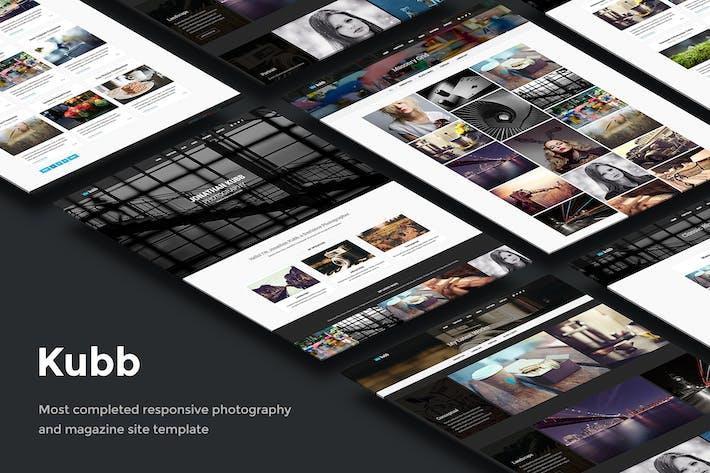 Kubb - Modèle de site de Photographie & Magazine