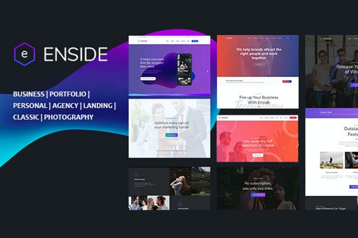 Cover Image For Enside - Multipurpose Onepage Template