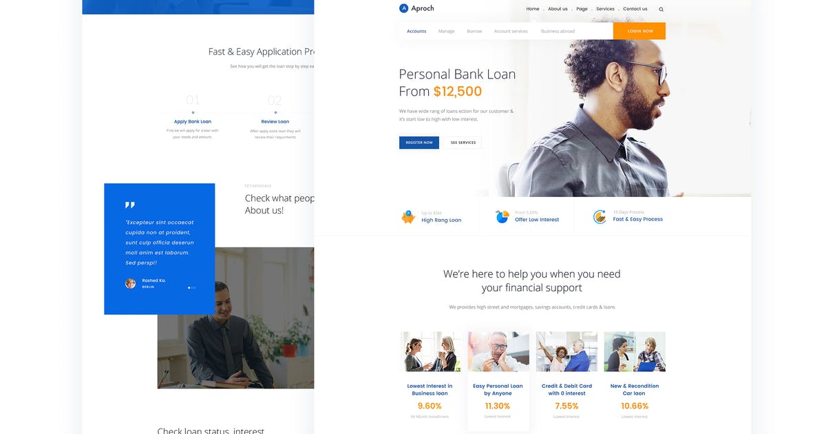 Download Aproach - Bank Loan & Business PSD Template by CreativeGigs