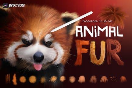 Animal Fur Procreate Brushes
