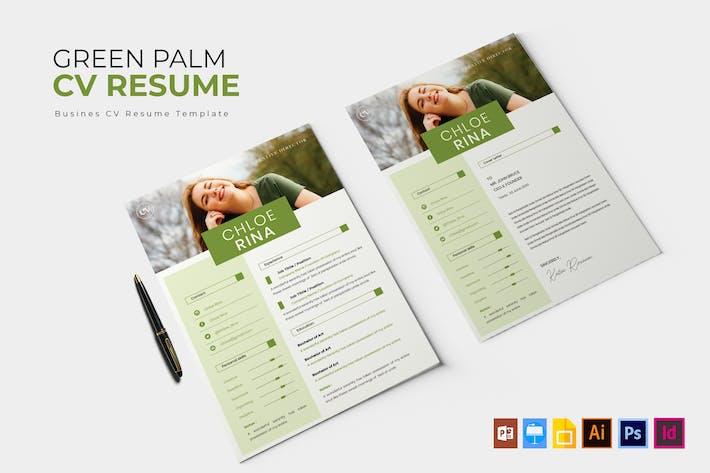 Thumbnail for Green Palm   CV & Resume