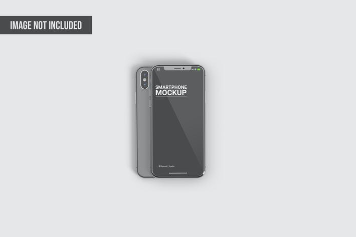Thumbnail for Standing Iphone Mockup Template