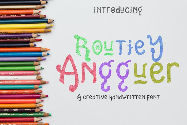 Thumbnail for Routiey Angguer - Handwritten Font