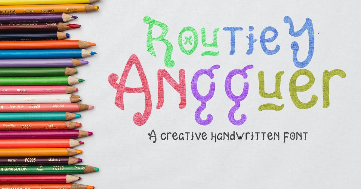 Download Routiey Angguer - Handwritten Font HR by Rometheme