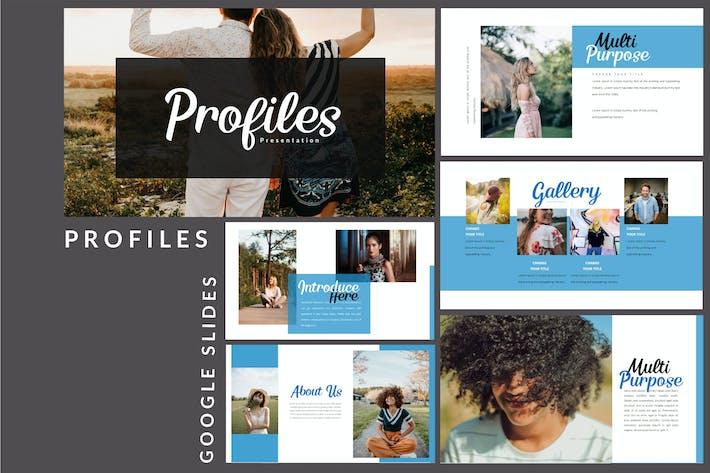Thumbnail for Profiles - Creative Google Slides Presentation