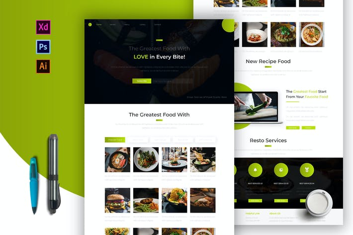 Thumbnail for Greatest Food | Newsletter Template