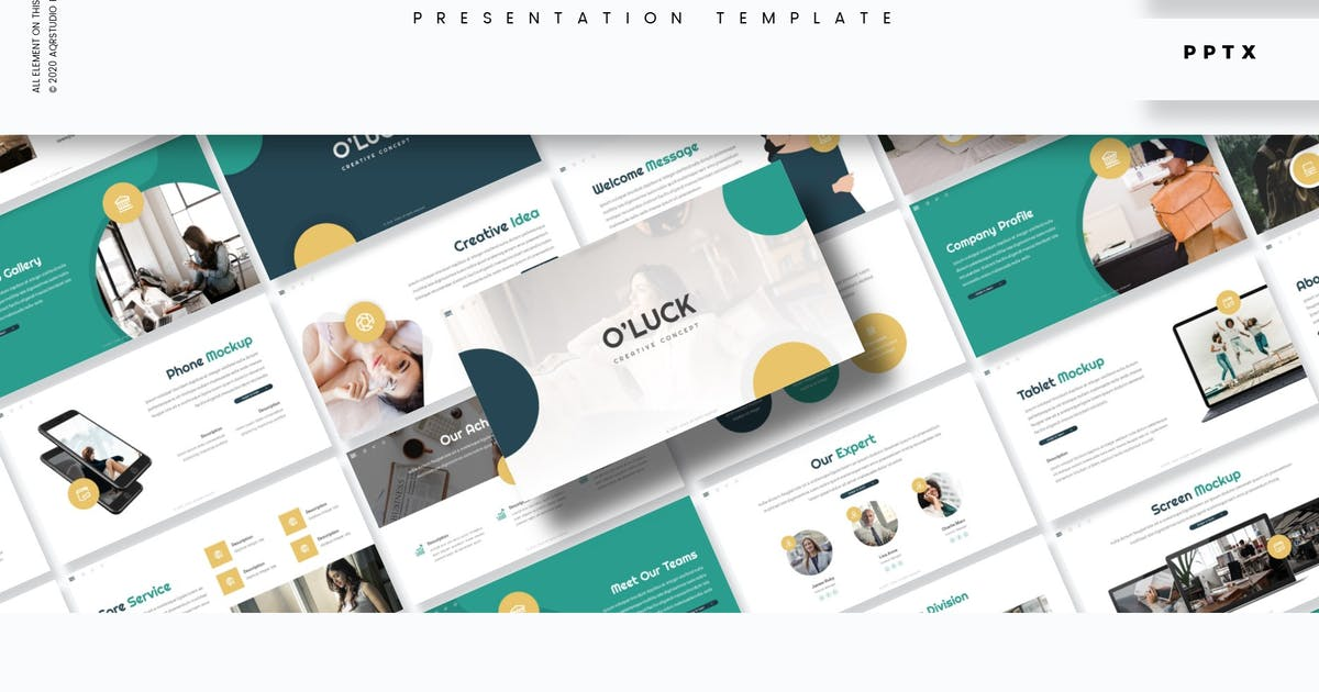 Download O'luck - Presentation Template by aqrstudio