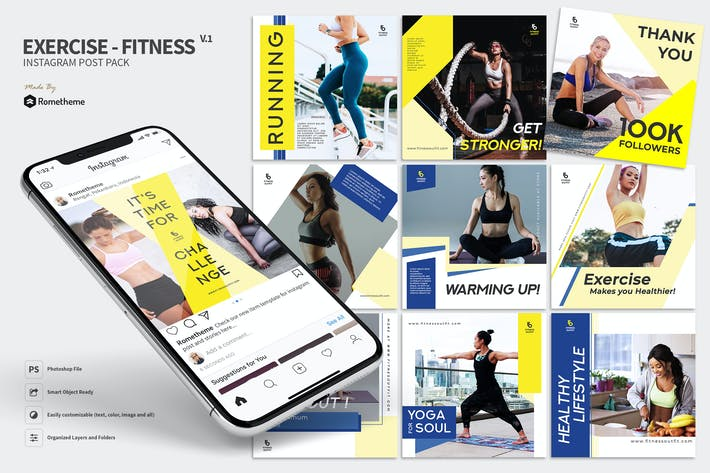 Thumbnail for Exercise - Fitness Promotion Instagram Post RY