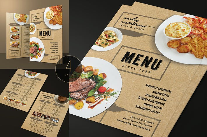 Thumbnail for Brown Restaurant Menu