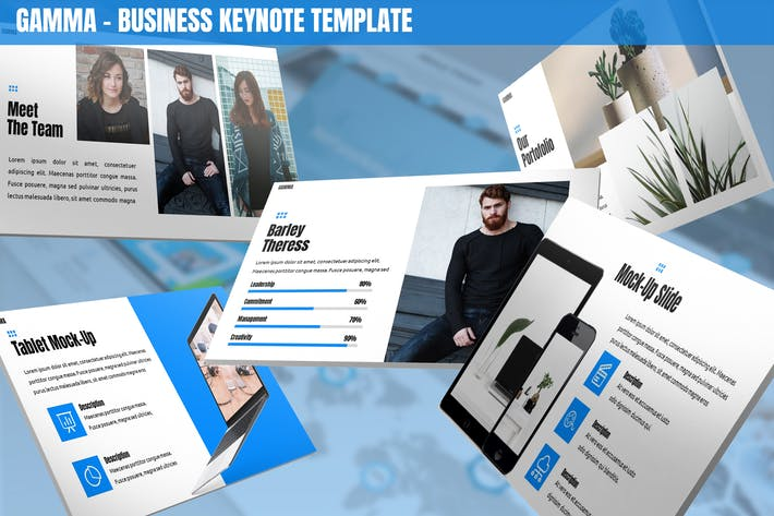 Thumbnail for Gamma - Business Keynote Template