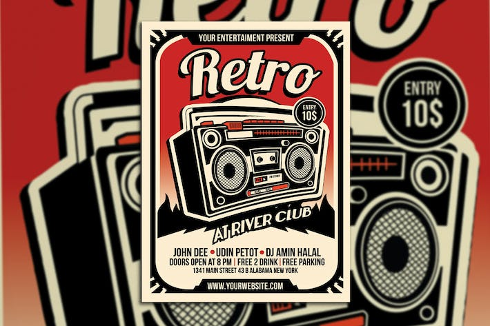 Thumbnail for Retro Music Radio Flyer Poster