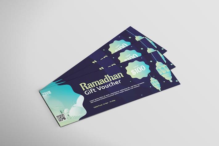 Ramadhan Gutschein - Gutschein-Design