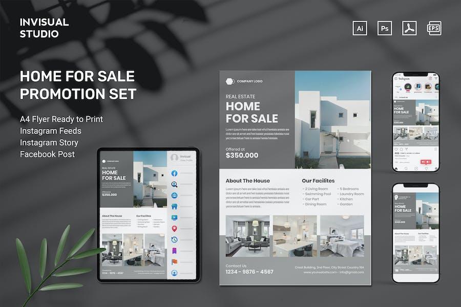 Home For Sale - Flyer Set