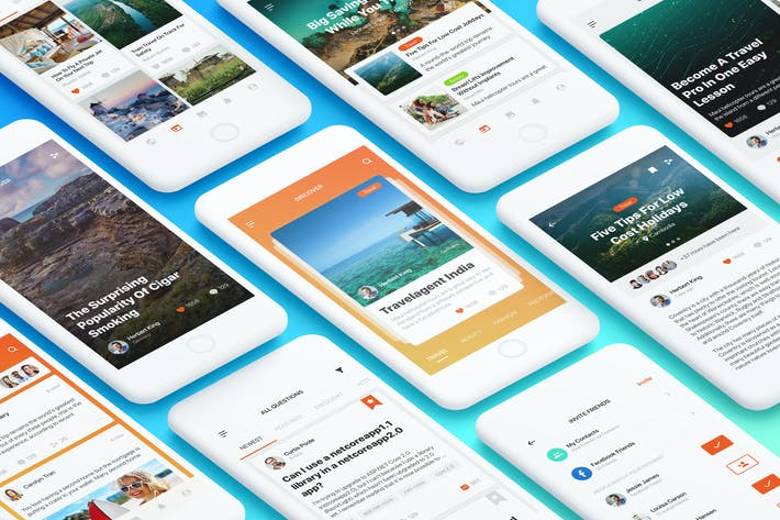 Thumbnail for Social Mobile App UI Kit