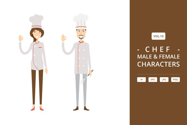 Thumbnail for Chef - Male & Female Characters Vol.10