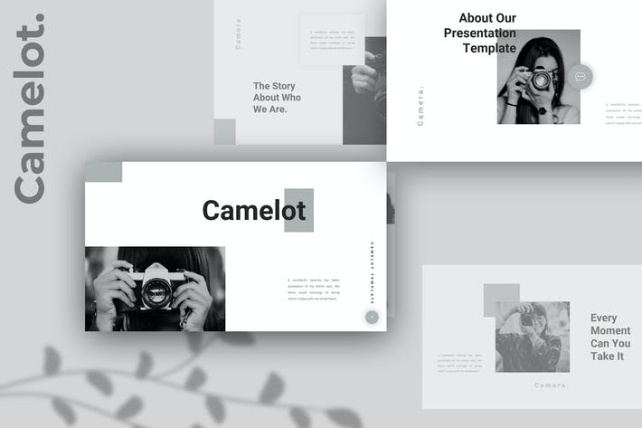 Camelot – Camera Photography PowerPoint Template