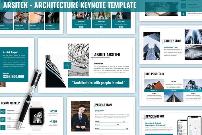 Thumbnail for Arsitek - Architecture Keynote Template