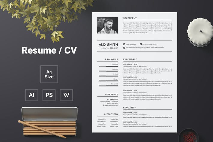 Cover Image For Resume Template 66