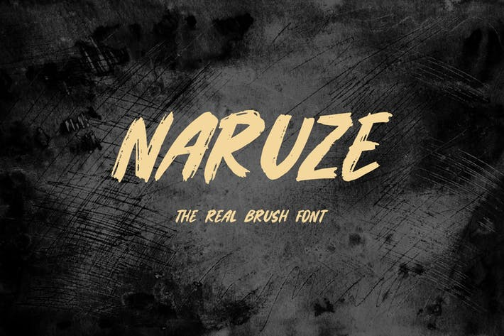 Thumbnail for Naruze - The Real Brush Font