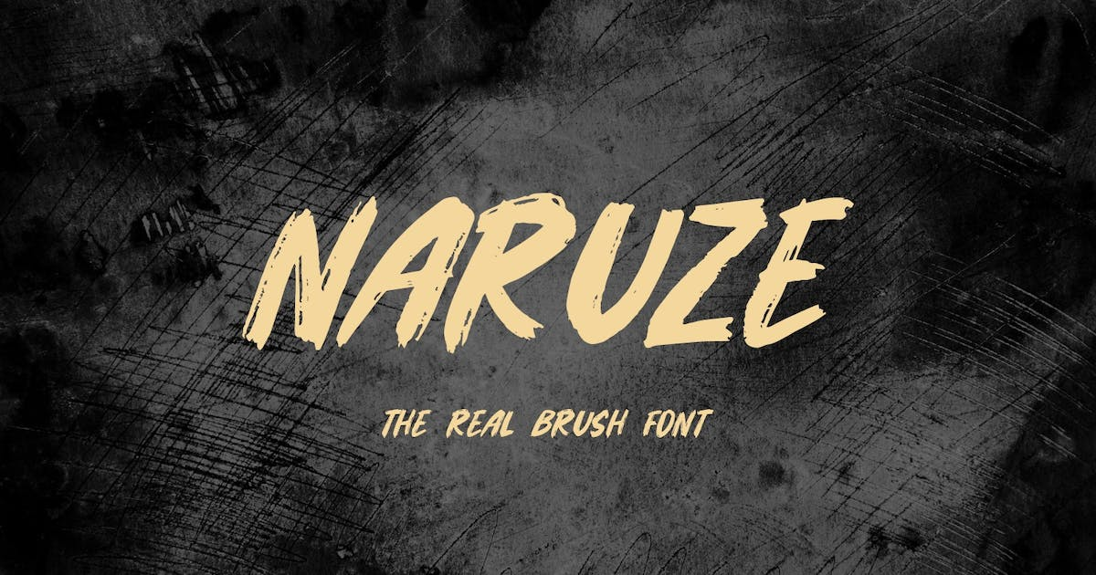 Download Naruze - The Real Brush Font by Graphicfresh