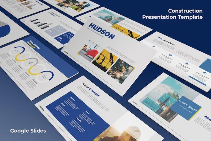 Хадсон - Строительство Шаблоны слайдов Google