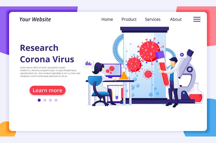 Thumbnail for Agnytemp - Corona Virus Illustration