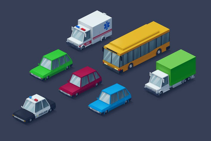 Cover Image For Low Poly Cars
