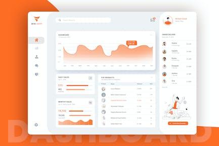 Shop Admin Dashboard Design UI Kit