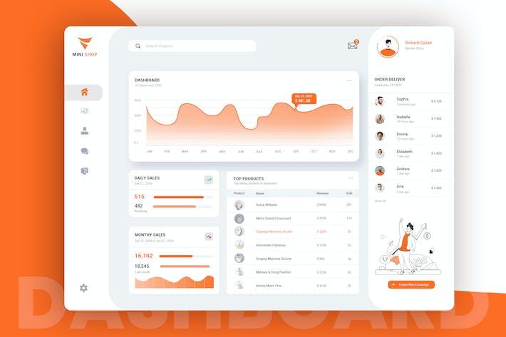 Thumbnail for Shop Admin Dashboard Design UI Kit