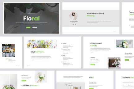 Florist Powerpoint Presentation Template