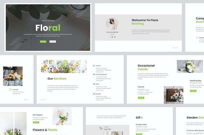 Thumbnail for Florist Powerpoint PräsentationsVorlage