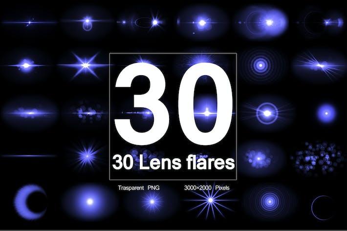 Optische Flares 30 Objektiv-Flares