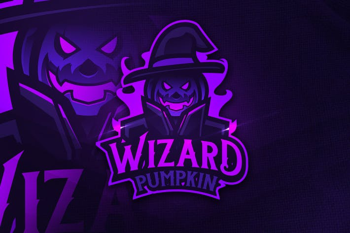 Thumbnail for Wizard Pumpkin - Mascot & Esports Logo